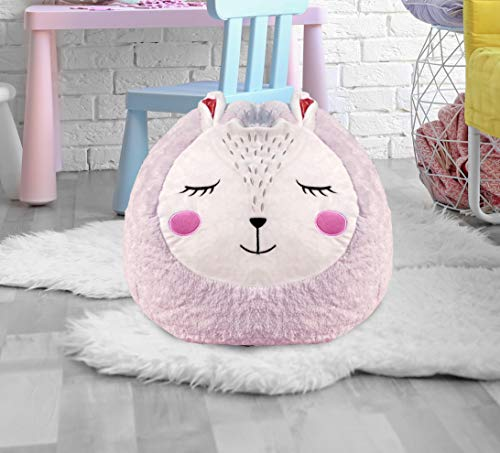 Beanbag For Kids: Soft And Comfortable Stuffed Bean Bag Chair For The Nursery, Cute Animal Design For Boys And Girls, Lux Plush Fabric, For Children Of All Ages 18'' x 18'' x 14'' (Bunny)
