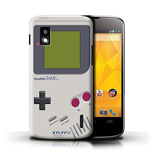 Hülle Für LG Nexus 4/E960 Spielkonsolen Nintendo Game Boy Design Transparent Ultra Dünn Klar Hart Schutz Handyhülle Case