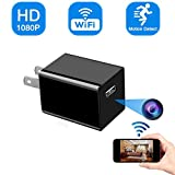 MSTEKI WiFi Charger Camera Hidden Spy Camera 1080P HD Motion Detection Charger Camera Wireless Home Security Camera WiFi Hidden Charger Camera Nanny Cam Live Feed Remote Control with App - Video Only