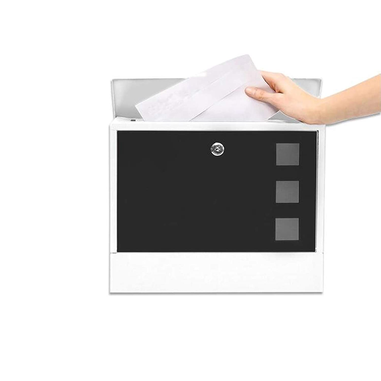 HZBa 郵便箱ヴィラボックス、屋外の壁の箱、屋外の助言箱、錆の証明および雨の証明の郵便箱、壁掛けの装飾 (Color : Black)