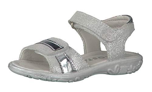 Ricosta Niñas Sandalias de Vestir Marie 6421700, Chica Sandalia con Tiras,Zapato de Verano,Sandalia de Velcro,cómodo,Bianco,31 EU / 12 UK