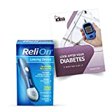 ReliOn Lancing Device +'Look After Your Diabetes' - Better Idea Guide | Includes 10 Ultra-Thin Lancets