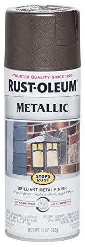 Rust-Oleum 7272830 Stops Rust Metallic Spray Paint, 11 oz, Dark Bronze