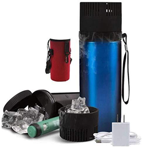 Houl Insulinkühler 304 Edelstahl-Reisekoffer Tragbarer Beutel 900 ml Flasche Insulin bei 2-8 ° C aufbewahren Diabetes-Fall Interner und externer Temperaturunterschied 26 ° C.-Red Cup Set