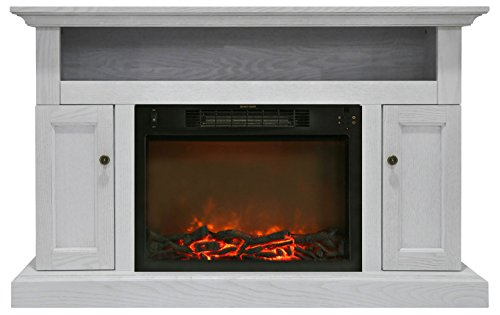 Hanover Kingsford Electric Fireplace, 1500W Log Insert/47, White
