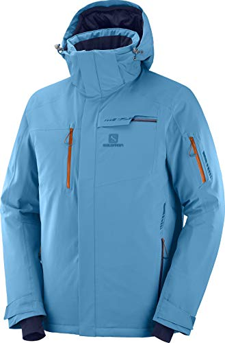 SALOMON Herren Brilliant Jacke, Herren, Brilliant JKT M, Fjord Blue, Large