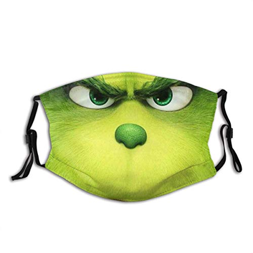 Green Monster Grinch Men/Womens Covers Dust-Proof Breathable Survival Game Classic Reusable