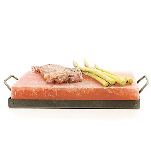 Himalayan Chef Himalayan Salt Plate & Holder Set, 8 x...