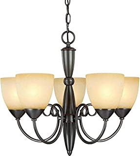 Hardware House 543728 Berkshire 21-Inch by 18-Inch Chandelier, Classic Bronze