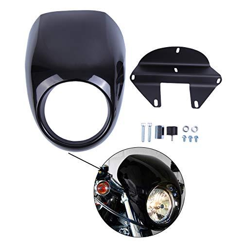Samger Scheinwerfer Verkleidung Maske Visier Abdeckung für Harley Sportster Dyna FX XL 1973-up