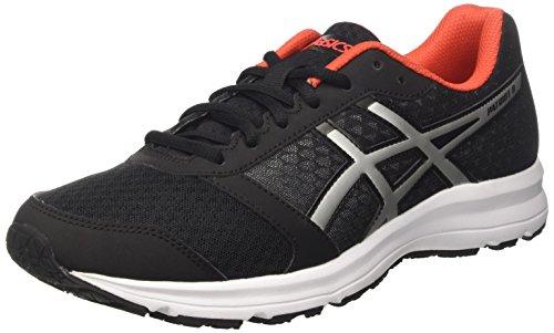 Asics Patriot 8, Zapatillas de running Hombre, Negro (Black/Lightning/Vermilion), 48 EU