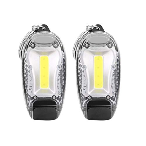 Uonlytech - Mini linterna LED con manojo de llaves, linterna portátil para huracanes, para emergencias, camping, senderismo, fiesta, linterna (3 unidades), plástico ABS, Imagen 1, 5,8 * 2,3 cm