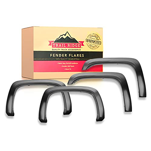 Trail Ridge Fender Flare Kit Factory Style Bolt On Smooth Black for Silverado
