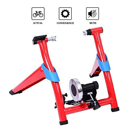 Foldle Bicycle Exercise Stand, Magnetic Bike Trainer Bike Riding Platform Mountain Bike Wire-Controlled Road Bike 26-28 inches