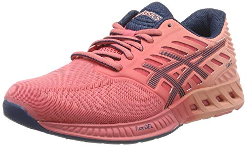 Asics Asics Fuzex T689n-1758, Women's Training Shoes, Guava / Poseidon / Peach Melba, 4 UK (37 EU)