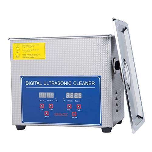Sfeomi Professional Ultrasonic Cleaner with Digital Timer&Heater Total 120W...