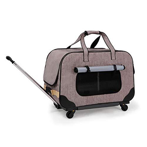 M-YN Passeggino per Cani Pet Travel Passeggino, Pieghevole Cane Trolley Carry Gabbia del Gatto e del Cane Carrello Pet Car Seat Caricamento Massimo 17,5 kg (Color : Gray)