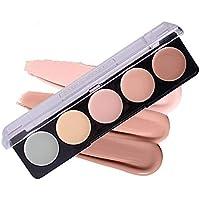 PhantomSky 5 Colores Corrector Camuflaje Paleta de Maquillaje Cosmética Crema - Perfecto para Uso Profesional y Diario