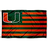 College Flags & Banners Co. Miami Hurricanes Stars and Stripes Nation Flag