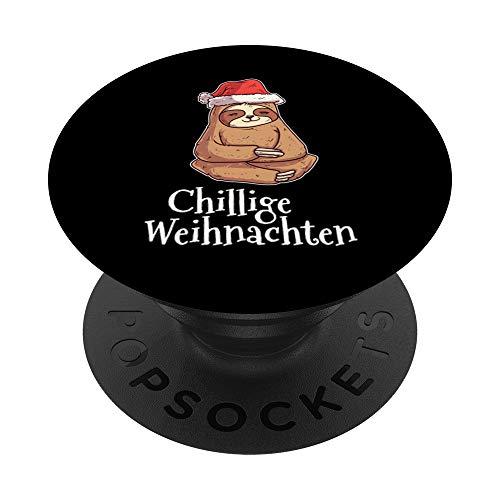 Chillige Weihnachten Outfit Nikolaus Mütze Faultier - PopSockets Ausziehbarer Sockel und Griff für Smartphones und Tablets