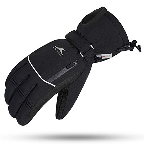 Achiou Winter Ski Gloves Waterproof for Men Warm Touchscreen PlusSize