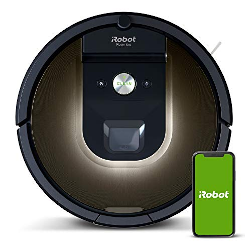 iRobot Roomba 981 Robot Vacuum-Wi-Fi Connected Mapping, Works with Alexa, Ideal for Pet Hair, Carpets, Hard Floors, Power Boost Technology, Black Dining Features Kitchen Robotic Vacuums