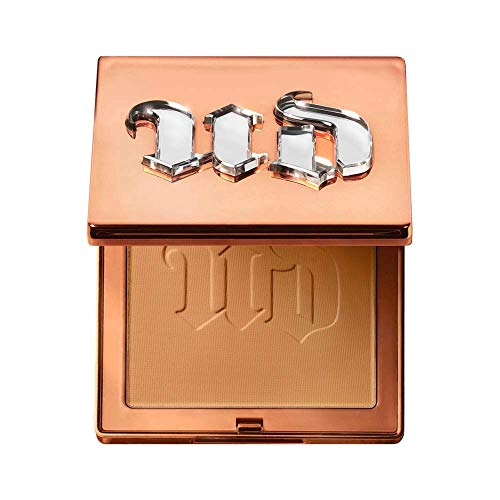 Urban Decay Stay Naked The Fix Powder Foundation, 70WO - Matte Finish Lasts Up To 16 Hours - Water & Sweat-Resistant - Comes with Charcoal-Infused Sponge