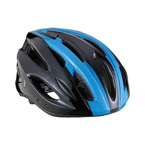 BBB Cycling Unisex-Adult Fahrradhelm Condor | Damen und Herren | Abnehmbaren Visier und Insektenschutznetz | MTB und Rennrad | BHE-35 | Schwarz/Blau L (58-61.5 cm), black/blue, 58-61 cm