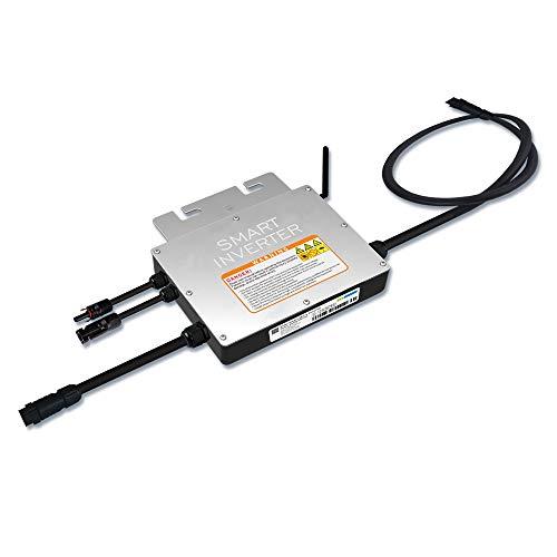 Y&H 300W Wechselrichter mit Kabelbinder Wasserdicht MPPT Stapelbar DC18-50V Solareingang AC220V Reine Sinuswelle Ausgang für 30V 36V PV-Panel