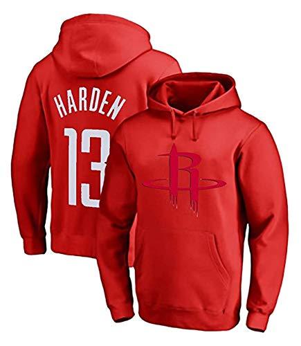 XIETARPAULIN James Harden #13 Houston Rockets - Camiseta de baloncesto para hombre, manga larga, con capucha, color rojo (talla XXXL)