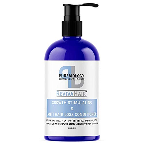 Hair Growth Stimulating Conditioner (Unisex) with Biotin, Keratin & Breakthrough Anti Hair Loss Complex – Intense Hydration Post Shampoo for Men & Women