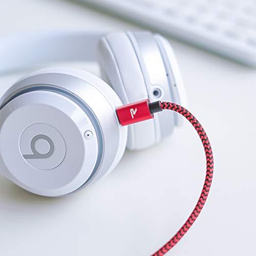 Rampow Micro USB Ladekabel, 2M/ 1-Stück, mit Nylon Geflochtenes Micro USB Schnellladekal Kompatibel für Android Smartphones, Samsung Galaxy, HTC, Huawei, Sony, Nexus, Nokia, Kindle und Mehr - Rot