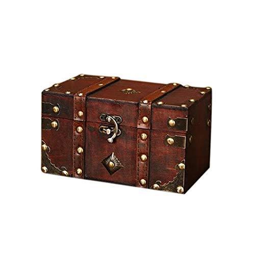 JOMOSIN SNH0216 - Caja de almacenamiento de madera retro para joyería de estilo antiguo