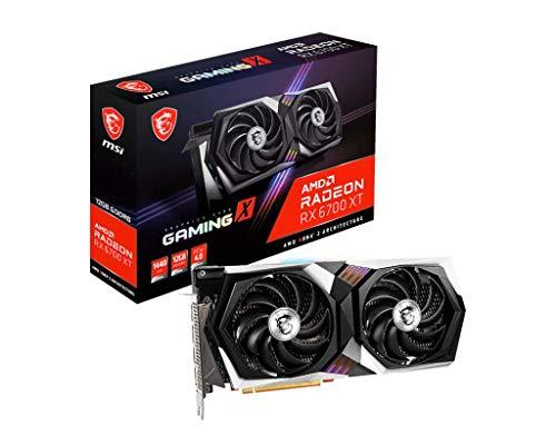 MSI Gaming Radeon RX 6700 XT 192-bit 12GB GDDR6 DP/HDMI Dual Torx 4.0 Fans FreeSync DirectX 12 VR Ready RGB Graphics Card (RX 6700 XT Gaming X 12G)