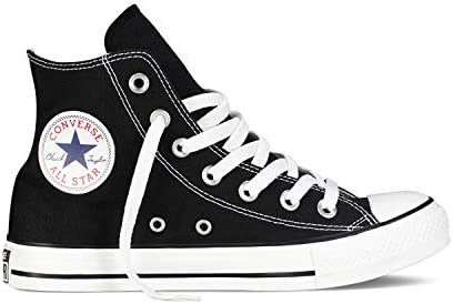 Converse Chuck Taylor All Star High Classic CTAS Hi Unisex Zapatillas de Lona con una Pegatina de 7kmh Negro 1507