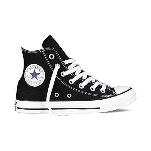 Converse Chuck Taylor All Star High Classic CTAS Hi Unisex Canvas Sneaker mit 7kmh Aufkleber Schwarz 1507 38