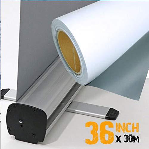 Rollo de papel para impresora de inyección de tinta, de 36 pulgadas, parte delantera gris con parte trasera de 135 micrómetros