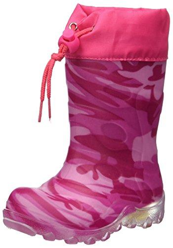 Beck Mädchen Camouflage Schneestiefel, Pink (Pink 06), 24 EU