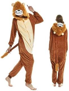 Onesie World Unisex Animal Pyjamas Cosplay Lion Adult Onesie Nightwear Halloween Carnival Novelty