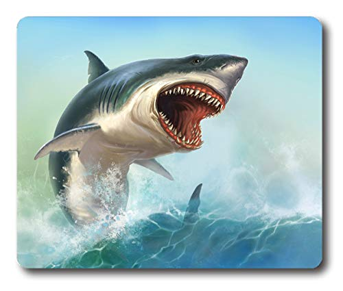 Ice Rabbit Mouse Pad White Shark Non-Slip Rubber Computer Gaming Mousepad