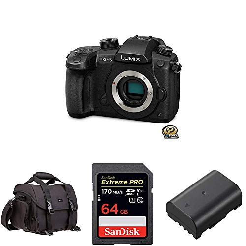 Best Buy! PANASONIC LUMIX GH5 4K Digital Camera, 20.3 Megapixel Mirrorless Camera with SanDisk 64GB ...
