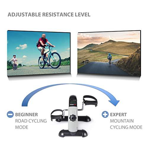 Ultrasport Arm- und Beintrainer Mini Bike MB 100 mit Transportgriff, verschiedene Widerstandsstufen, LCD Display, Pedaltrainer für Senioren und Junge,Trainingsgerät für zu Hause und Büro