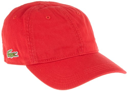 Lacoste Herren RK9811 Baseball Cap, Rot (Rouge), One Size (Herstellergröße: TU)