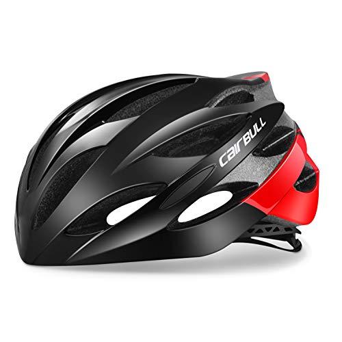 HANFEI Casco da bicicletta leggero, Casco da Ciclismo su Strada professionale, Adulto, Unisex, 9 Colori disponibili (4,M (54-58 cm))