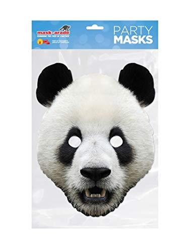 Rubies-Mascara panda adulto talla unica, (Rubie'S Spain PANDA01)