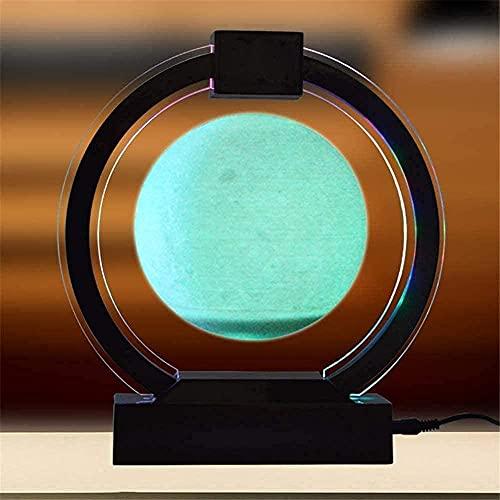 Globos, Lua flutuando lindamente com luzes LED O formato Levitação magnética Lua flutuante ornamentos para decoração de mesa de escritório doméstico Preto -Blac