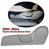 Seat Accessories & Parts - ECOTRIC New Driver Seat Side Trim Bezel ABS Plastic LH Light Gray Compatible with 2001-2004 Toyota Tacoma Bucket Seats