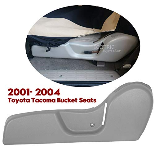 ECOTRIC New Driver Seat Side Trim Bezel ABS Plastic LH Light Gray Compatible with 2001-2004 Toyota Tacoma Bucket Seats
