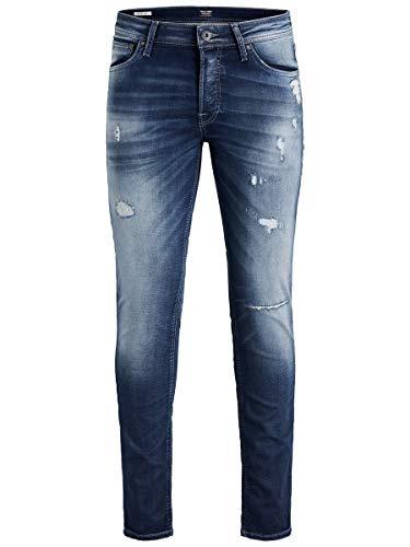 Jack & Jones Jjiglenn Jjoriginal Jos 118 ID.k Noos Pantalones Vaqueros Delgados, Azul (Blue Denim), W34/L34 (Talla del Fabricante: 34) para Hombre