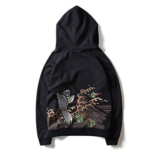 KRILY borduurwerk sweatshirt bedrukte hoodie volle ritssluiting trui lange mouwen hoodie mantel voor vrouwen en mannen